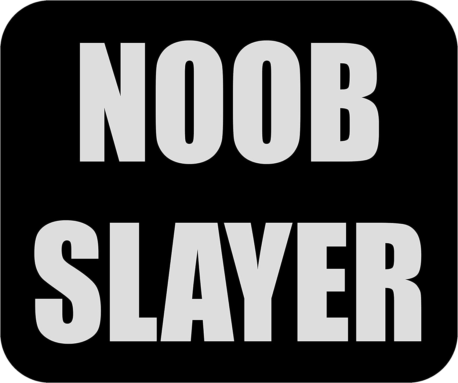 Funny Noob Slayer Gamer Mouse Pad Mat Mousepad for Laptop PC Gaming Home or Office Gift for Video Game Player