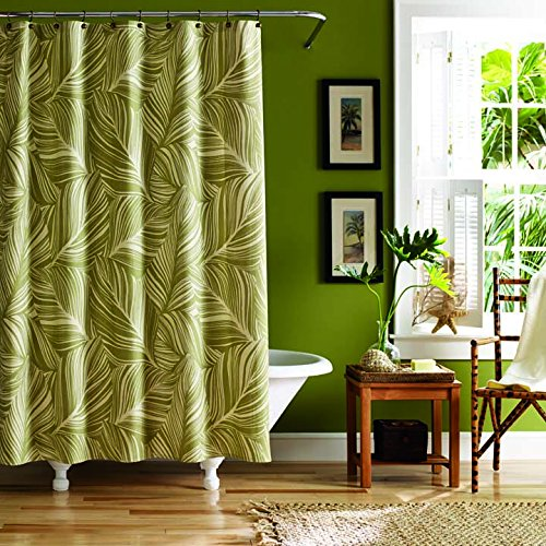 Tommy Bahama Montauk Drifter Shower Curtain, 72x72, Green