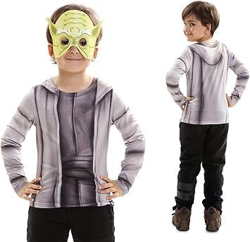 Disfraz Camiseta de Star Wars Yoda Original de Carnaval para niño ...