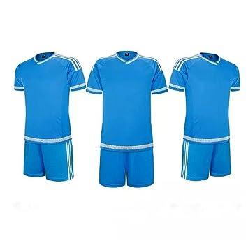 General Niños Soccer Jersey de fútbol Ropa Formación trajes ropa de deporte, color azul,