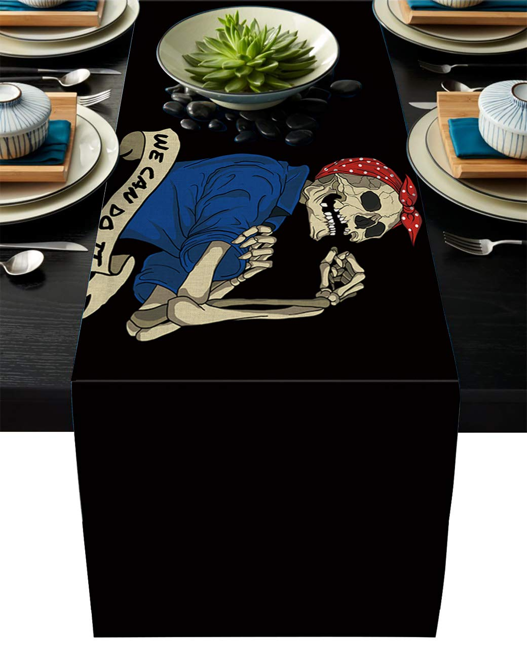 Amazon Com Artshowing Skulls Table Runner Party Supplies