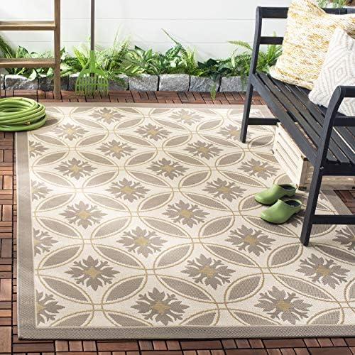 Safavieh Courtyard Collection CY7844-79A21 Beige and Dark Beige Indoor Outdoor Area Rug 8 x 11