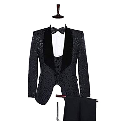 b3a74f6a8c91 2018 New Brand Shawl Lapel Groom Tuxedos Red White Black Men Suits Wedding  Prom Suit Best