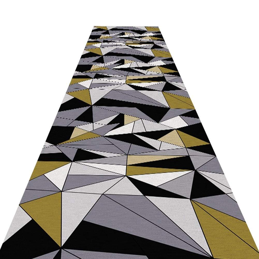 HAIPENG 廊下のカーペットエクストラロング ランナー ラグ にとって 廊下 滑り止め コリドー通路 カーペット 通路 エリアラグ にとって リビングルーム ダイニングルーム 洗える (色 : A, サイズ さいず : 1.6x6m) 1.6x6m A B07NYQ6PPW
