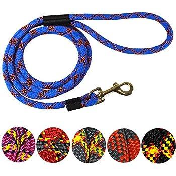 DTPS, Durable Dog Rope Leash, 6 feet, Blue, Mountain Climbing Rope Leash