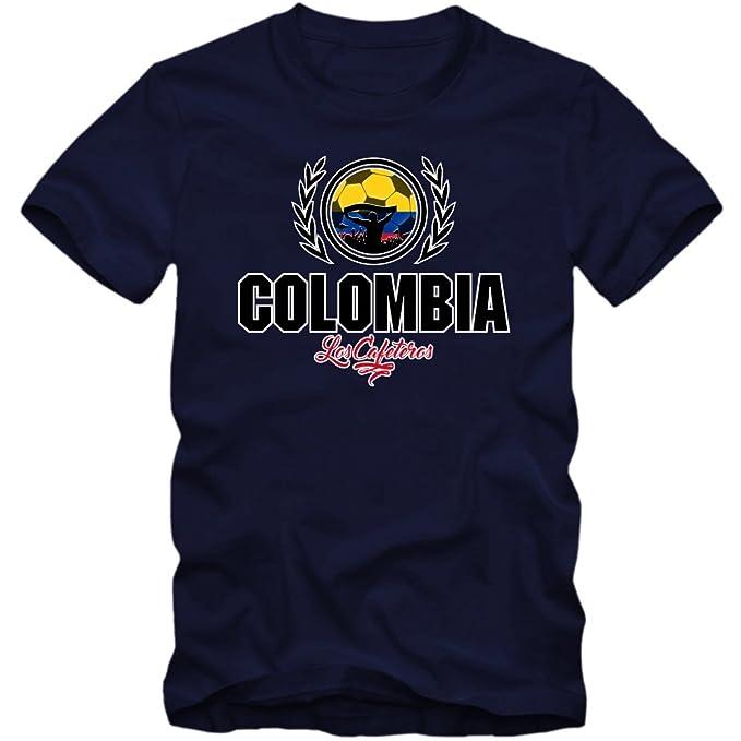 Shirt Happenz Fútbol Colombia V2 Camiseta | Hombre | Fútbol | Jersey | Los Cafeteros |