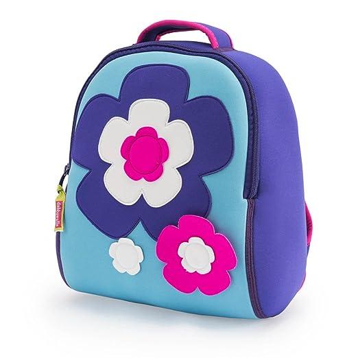 Dabbawalla Bags Flower Power Kid's Toddler and Preschool Backpack, Purple/pink