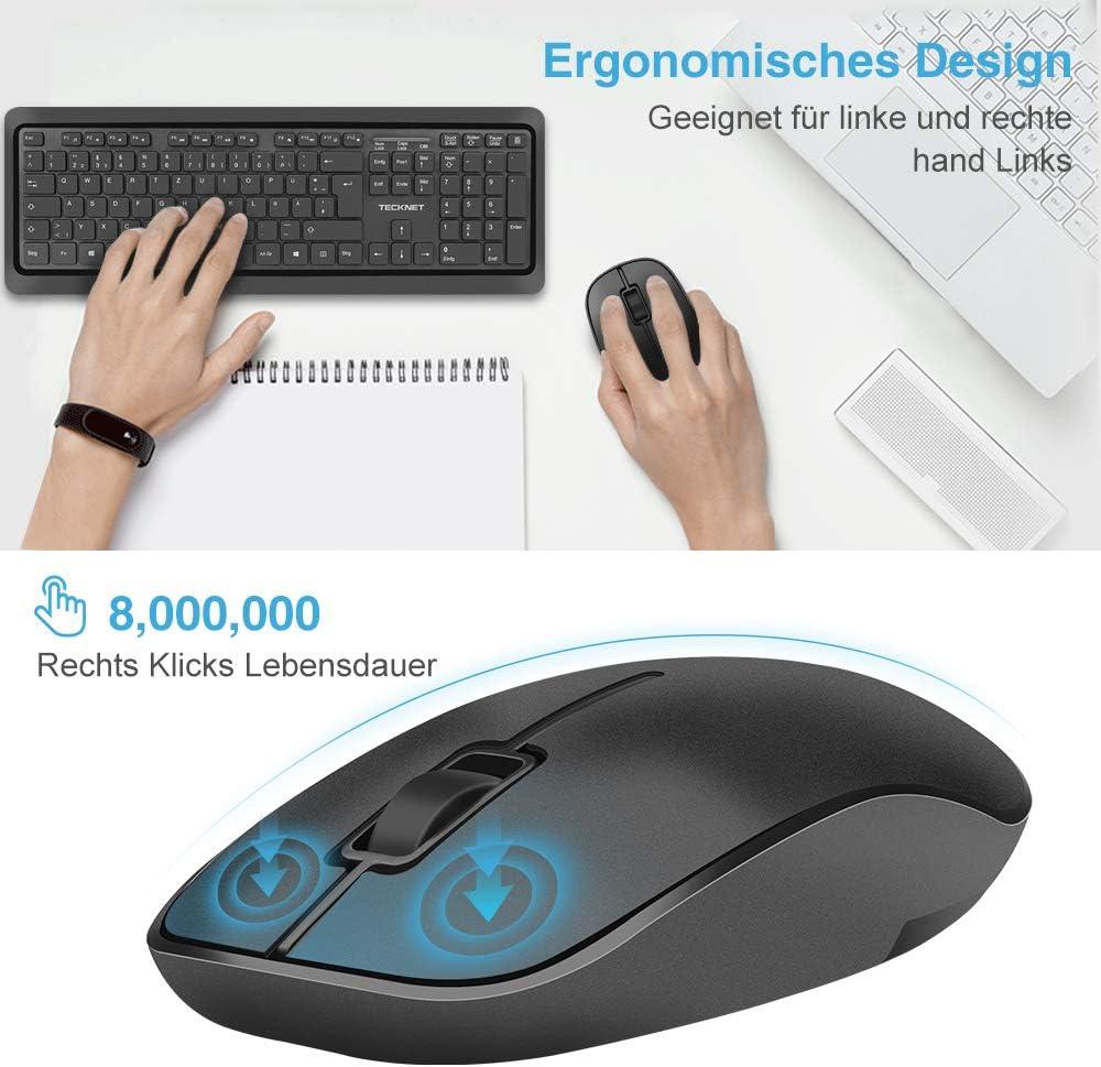 Teclado inalámbrico y ratón, TeckNet – Wireless Combo Teclado ...