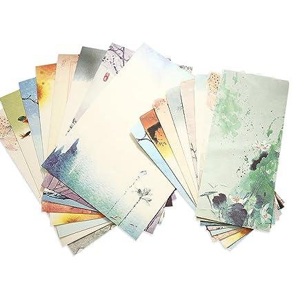 Zhi Jin 48 pcs Retro estilo chino escribir cartas papelería ...