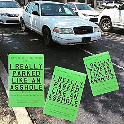 Asshole Parking Stickers (10 Pack) by Violent Little Machine Shop - Hard to Remove: Arts, Crafts & Sewing