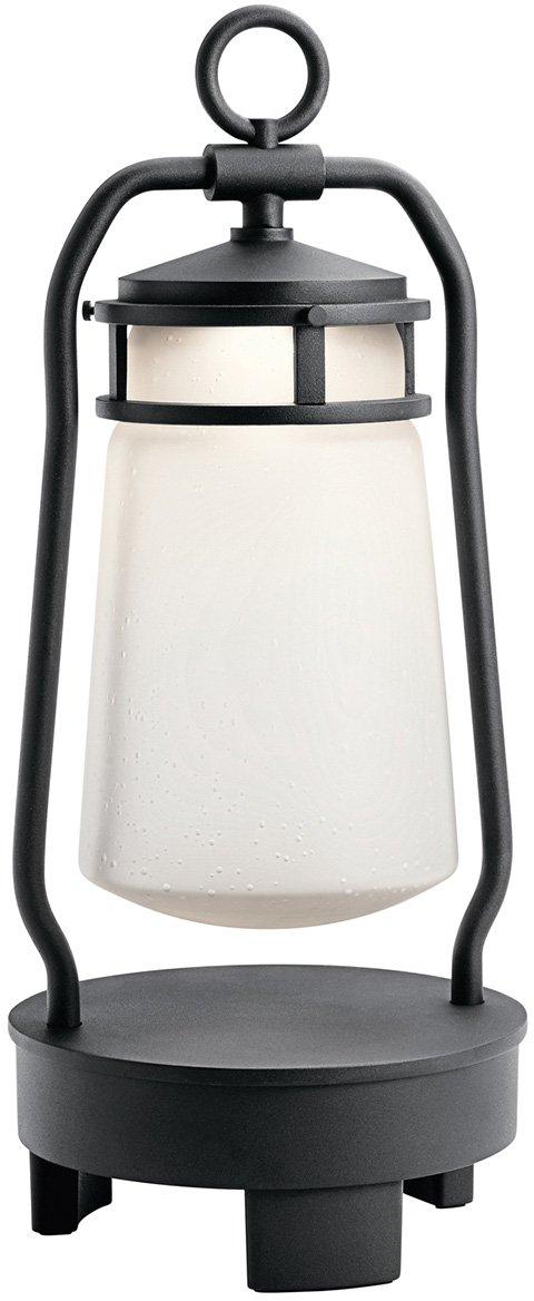 Kichler  49500BKTLED Lyndon Portable LED Lantern with Built-in Bluetooth Speaker, 1-Light, Textured Black by KICHLER