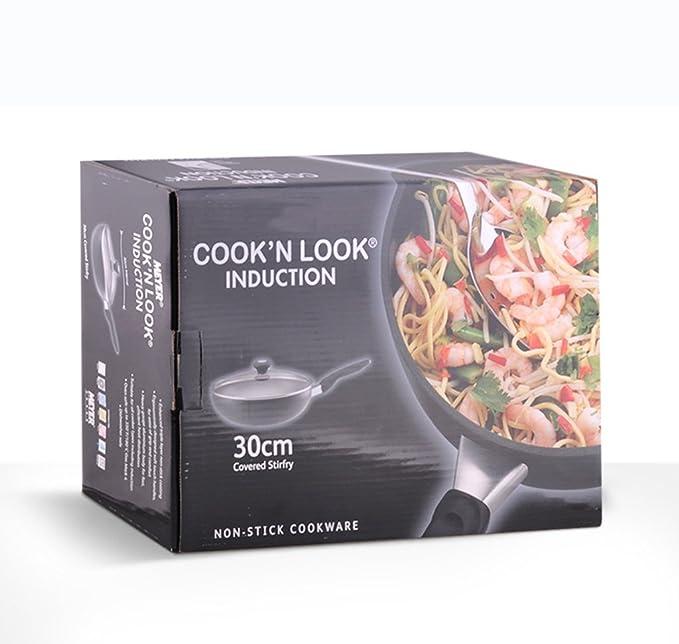 Sartén antiadherente Pan Wok 30cm Pan para cocinar en casa Sartén ...