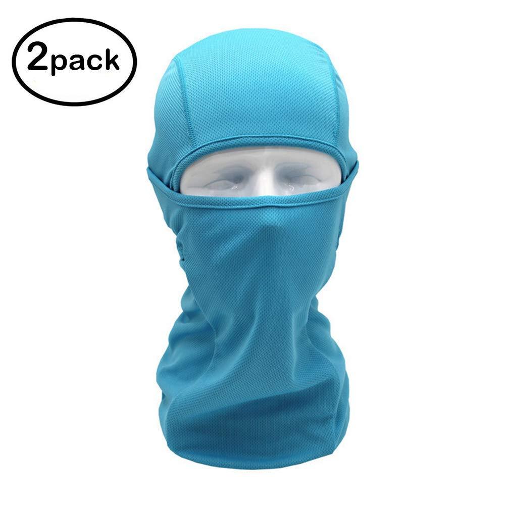 Ohequbao Balaclava Face Mask Windproof Ski Mask Motorcycle Cycling Bike,Neck Warmer Tactical Balaclava Hood Polyester Fleece for Women Men Youth Kids Black 2 Pack
