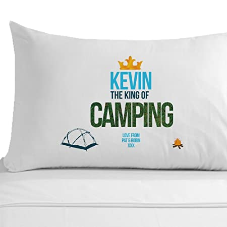Personalised the King of Camping Pillowcase, Camper Gift Ideas ...