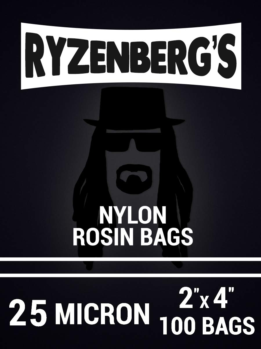 Rosin Press Bags/Rosin Filters (25 Micron/25u) 2'' x 4'' Inch (100 Pack) By Ryzenberg's by Ryzenberg Products