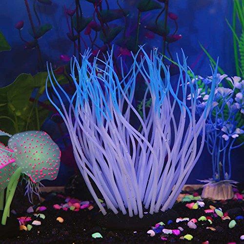 Aquarium Decor Silicone Aquarium Fish Tank Artificial Coral Plant Underwater Ornament Decor (Multicolor C)