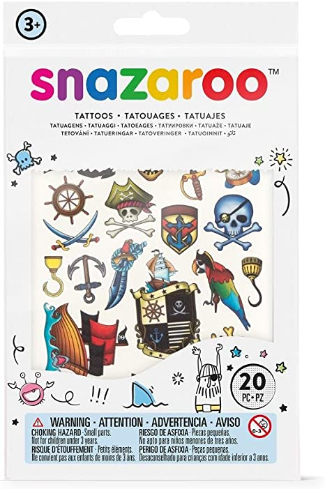 Snazaroo - Set de tatuajes temporales, aventuras: Amazon.es ...