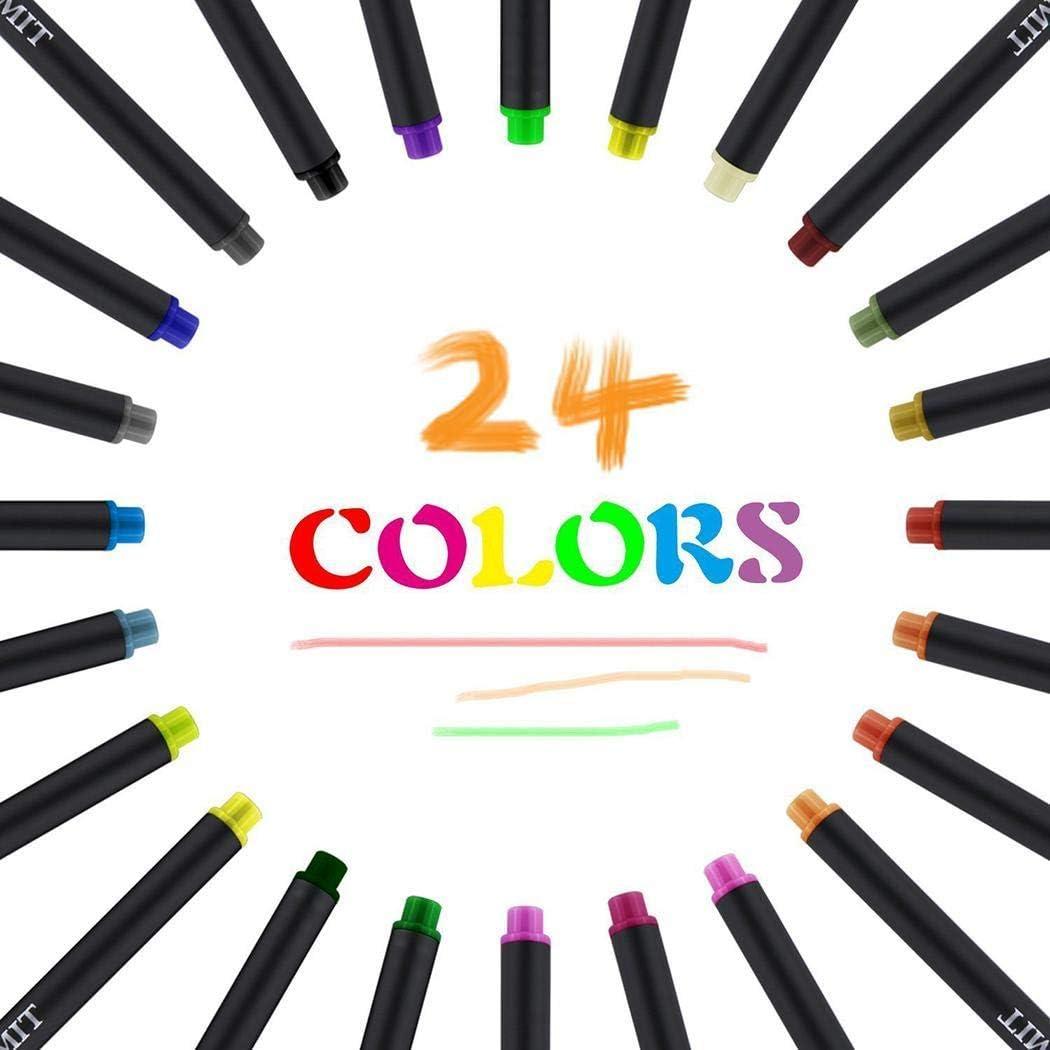 Acecoree Penna di verniciatura a Penna per pennarelli a Punta fine a Lunga Durata Colore 0.4mm Coni per la Scuola