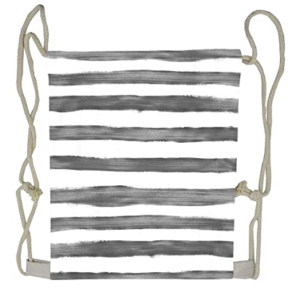 Amazon.com | Charcoal Stripes Drawstring Backpack for Girl ...