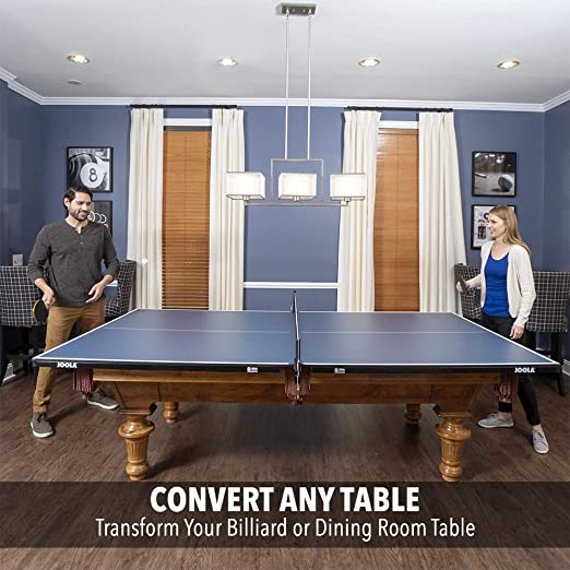 Amazon.com : JOOLA Regulation Table Tennis Conversion Top With Foam Backing  And Net Set   Full Sized MDF Ping Pong Table Top For Pool Table   Quick And  Easy ...