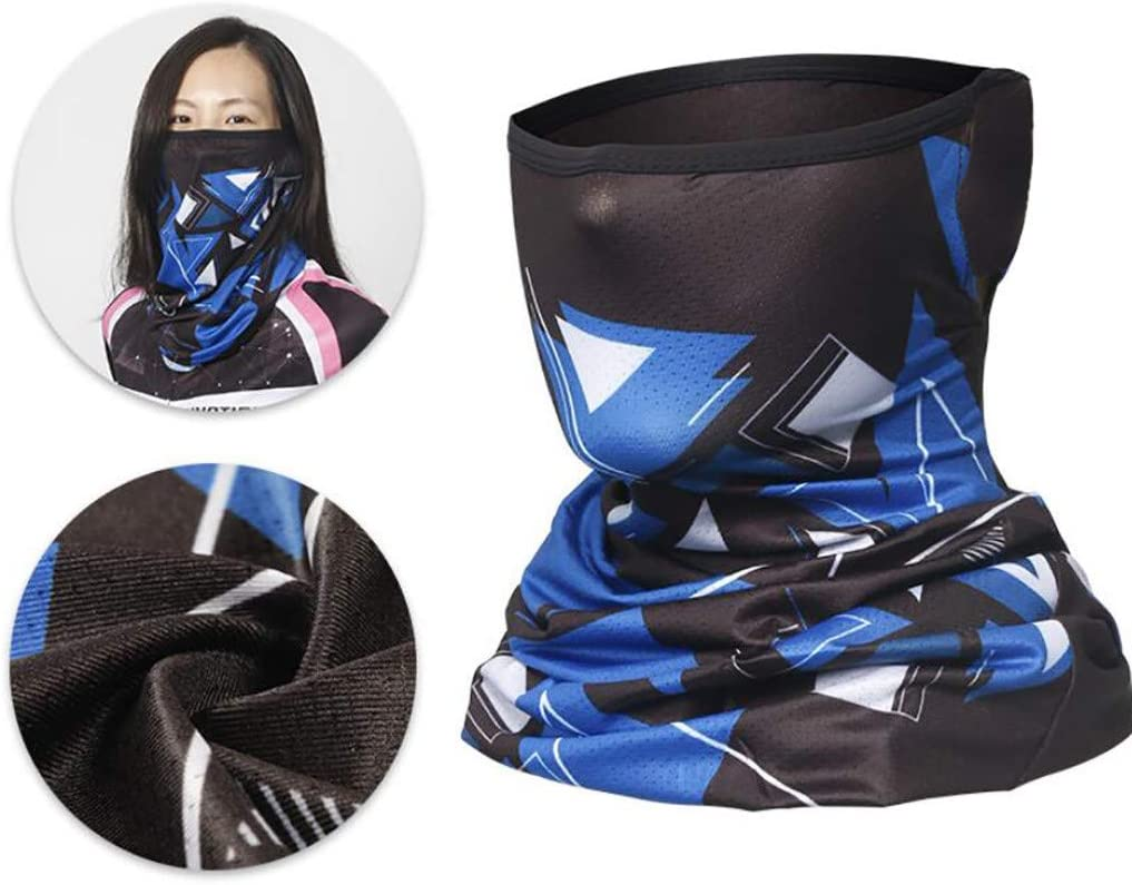 GJKK Schlauchschal Multifunktionstuch Sommer Atmungsakt D/ünn Motorrad Mundschutz Halstuch Outdoor UV Staubschutz Mund-Tuch Motorrad Fahrrad Joggen Schal Face Shield