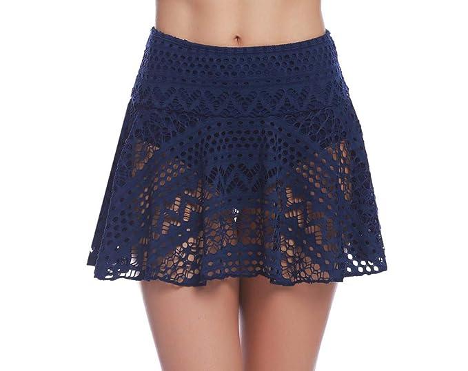 b0e8dd02d094 iClosam Falda de Baño Mujer, Shorts de Baño Corta Bikini de Encaje Bragas  para Playa Piscina