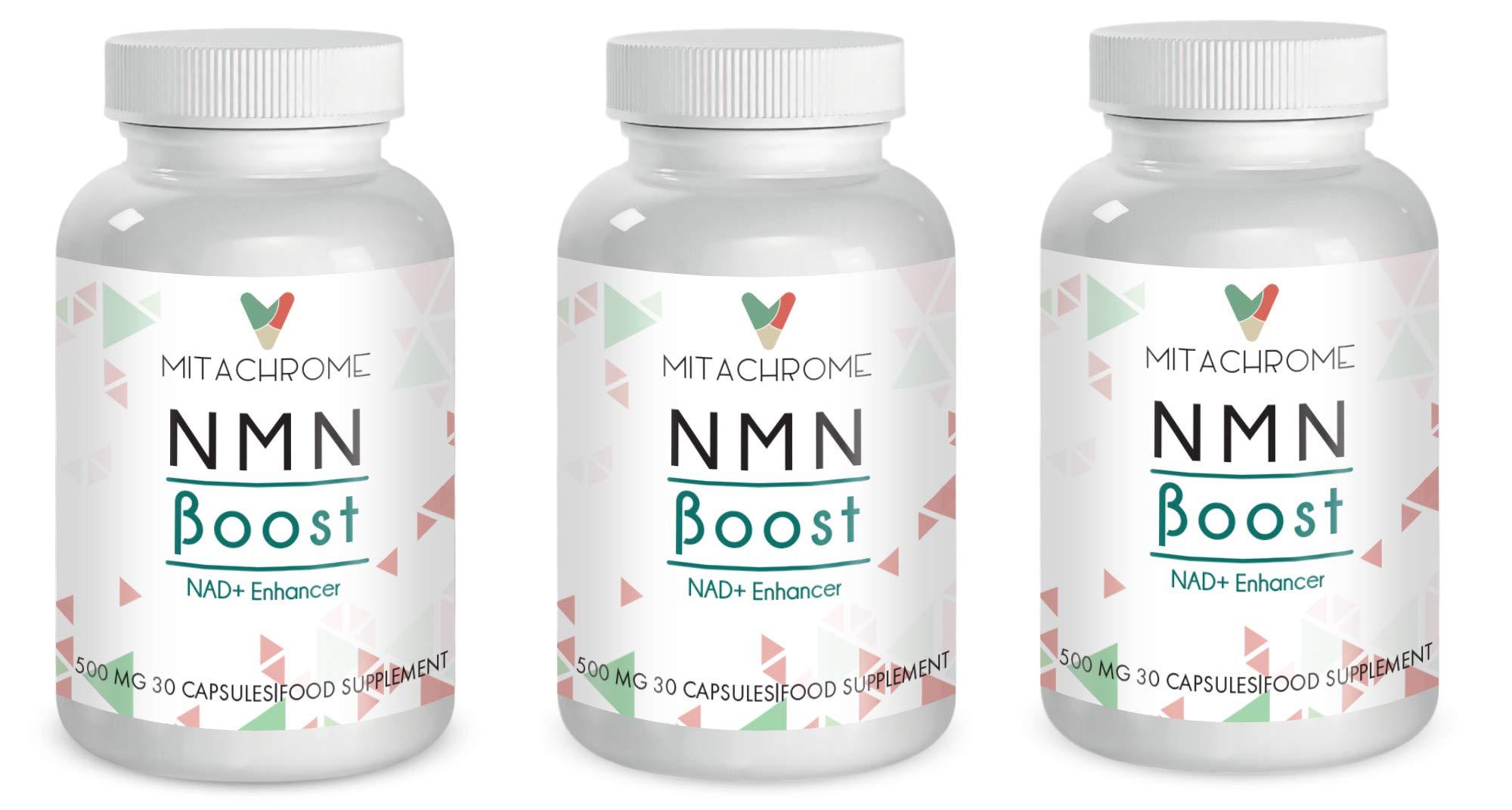 (NMN) β- Nicotinamide Mononucleotide 250mg's + Pterostilbene 250mg's (3 Bottles)