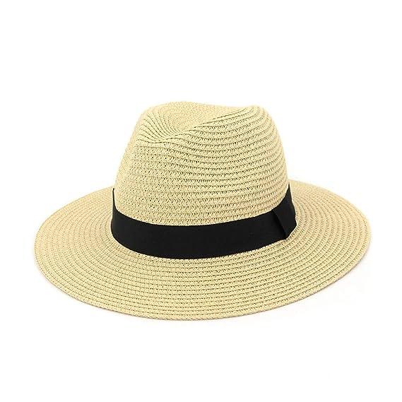 Sombreros Sombrero de Panamá de Paja de ala Ancha para Mujer ...