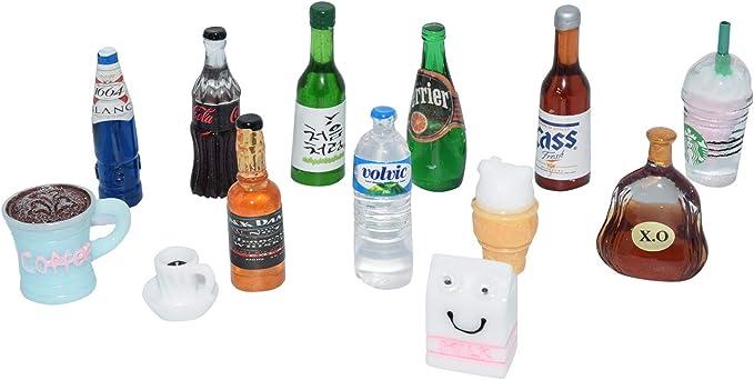 2PCS Dollhouse Miniature Toy Food Drink Milk Bottle Home Decor Scene B Jw