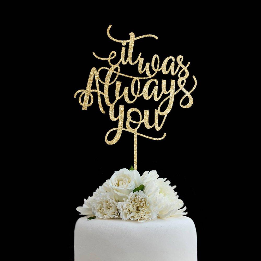 Amazon.com: Quote Wedding Cake Topper Rustic It Was Always ...