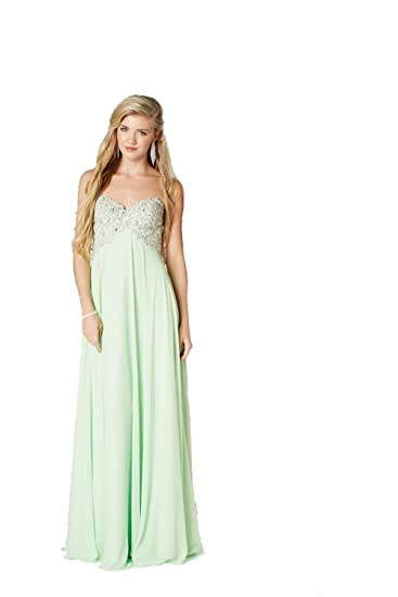 Tiffanys Illusion Prom Apple Green Eve Sweetheart Prom Dress UK 10 (US 6)
