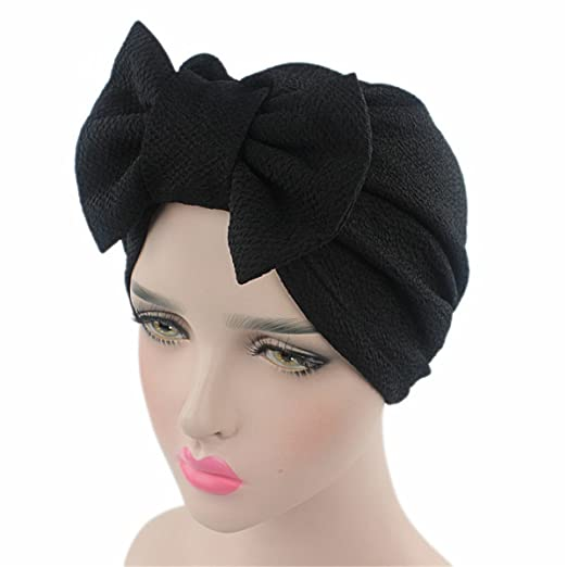 44885ec829e Image Unavailable. Image not available for. Color  Qhome Womens Luxury Bow  Turban Hat Stylish Chemo Cap