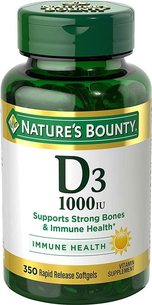 Vitamin D3 by Nature's Bounty for immune support. Vitamin D3 provides immune support and promotes healthy bones. 1000IU, 350 Softgels: Health & Personal Care