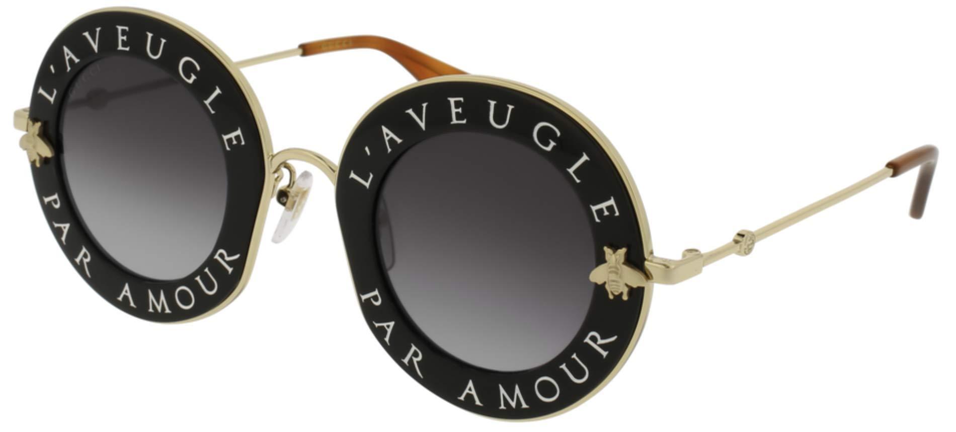 Sunglasses Gucci GG 0113 S- 001 BLACK / GREY GOLD by Gucci