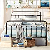 Giselle Antique Dark Bronze Graceful Lines Victorian Iron Metal Bed (Twin Size)