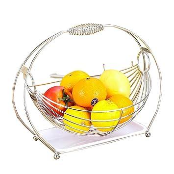 WLHW Fruteros Plato de Cesta de Fruta Acero Inoxidable con ...