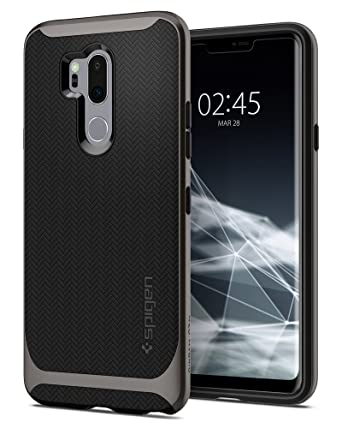 quality design 7ef24 6abbe LG G7 ThinQ Case, Spigen Neo Hybrid - Flexible Herringbone Pattern  Protection and Reinforced Hard Bumper Frame for LG G7 ThinQ (2018) -  Gunmetal