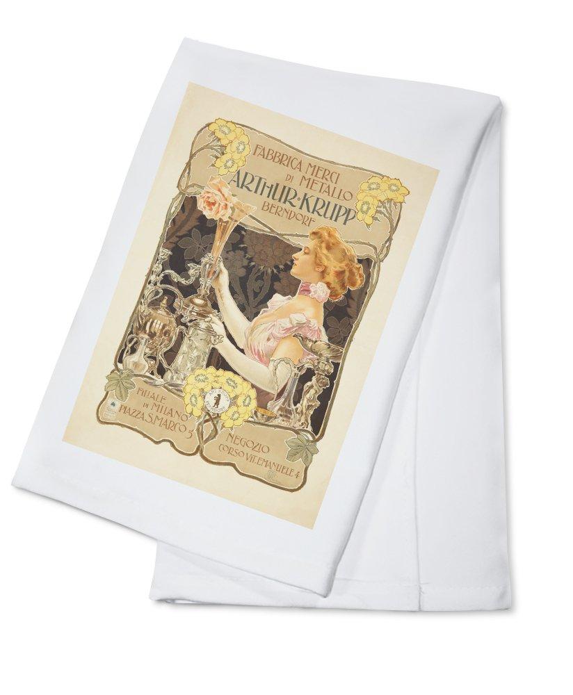 Arthur Krupp Vintage Póster (artista: Terzi, Aleardo) Italia C. 1900 (100% algodón absorbente toalla de cocina (): Amazon.es: Hogar