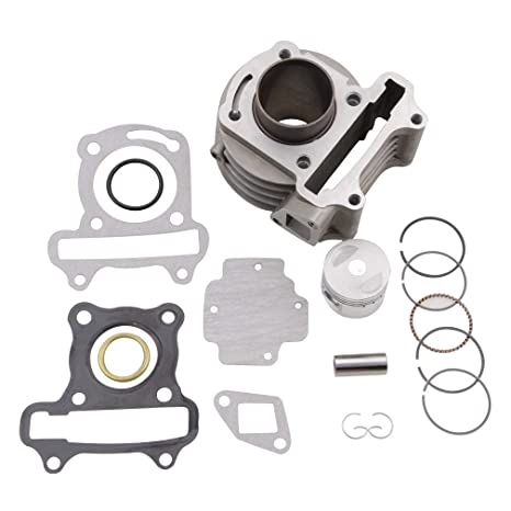 Amazon.com: GOOFIT Cylinder Kit for 4 Stroke GY6 49cc 50cc ATV ... on suspension harness, electrical harness, nakamichi harness, engine harness, maxi-seal harness, amp bypass harness, alpine stereo harness, battery harness, cable harness, dog harness, pony harness, pet harness, safety harness, obd0 to obd1 conversion harness, fall protection harness, oxygen sensor extension harness, radio harness,