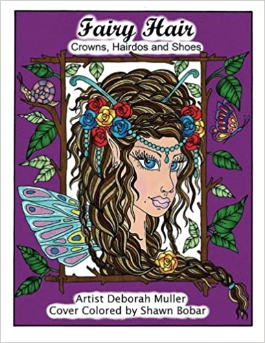 fairy hair fairy hair crowns shoes houses hairdoscoloring book