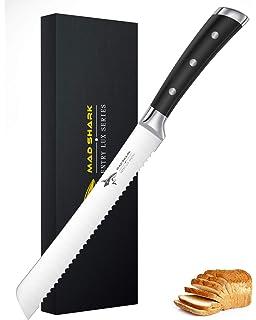SHAN ZU Cuchillo para Pan de Acero Inoxidable 20 cm Cuchillo ...