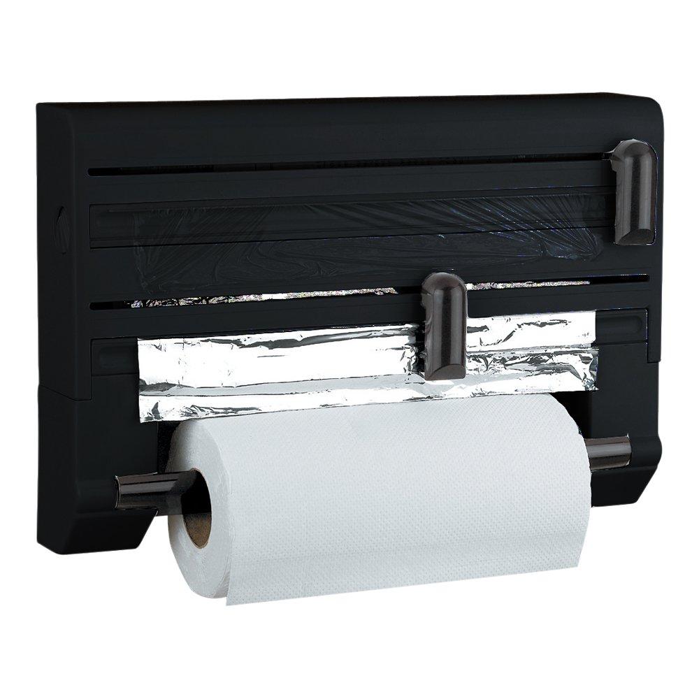 Buy Prime Housewares Cling Film, Aluminium Foil U0026 Paper Roll Dispenser    Black Color (5221_Bl) Online At Low Prices In India   Amazon.in