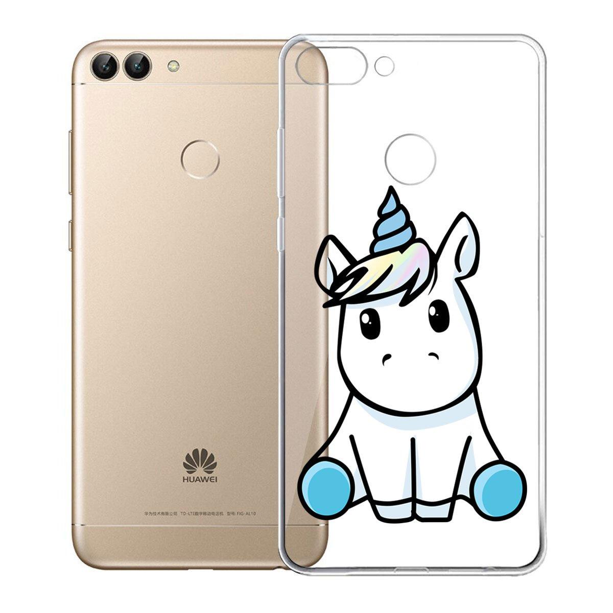 ZXLZKQ Funda para Huawei P Smart / Huawei Enjoy 7S Cover Gatito Transparente Funda TPU Gel Cubierta Suave Silicona Carcasa Case Cover Tapa Caso para Huawei P Smart / Huawei Enjoy 7S