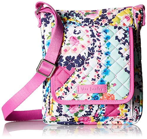 Vera Bradley Iconic RFID Mini Hipster Crossbody, Signature Cotton, Wildflower Paisley
