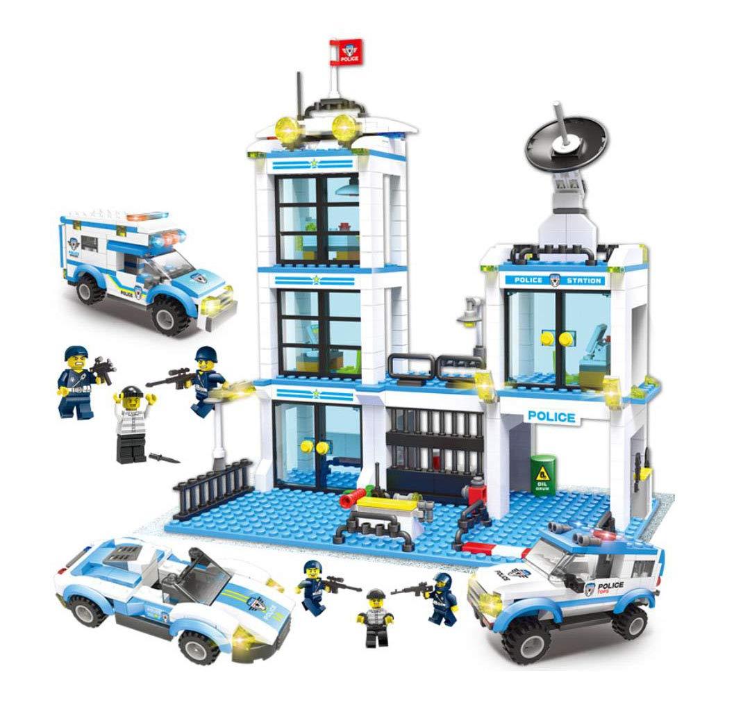 Hay más marcas de productos de alta calidad. ANGLE Ciudad Ciudad Ciudad de la jefatura de policía Compatible con la Serie de Lego Ciudad montado pequeñas partículas vehículo Militar DIY niños Juguete niño Regalo  el precio más bajo