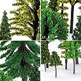 Nilos 55pcs Mixed Model Trees Miniature Trees for
