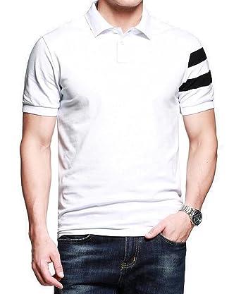 52d52fa5 LionRoar Men's Cotton Collar Polo Half Sleeve T-Shirt: Amazon.in: Clothing  & Accessories