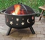 Patio Fire Pit Outdoor Fireplace Backyard Wood Burning Heater Steel