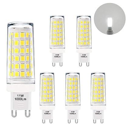 Lamparas Bombillas de Maiz Pequeñas Casquillo G9 GU9 de LED Alto Brillo 11W 1000Lm Luz Fria