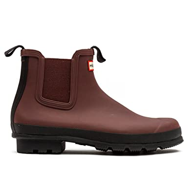 e6982393c9fb Hunter Men s Original Chelsea Two Tone Umber High-Top Rubber Rain Boot - 10M